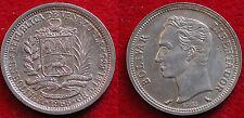 MONETA COIN MONNAIE REPUBLICA DE VENEZUELA BOLIVAR 1965 ARGENTO SILBER SILVER #1