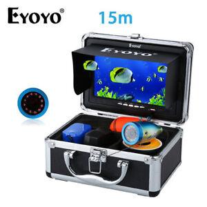 "EYOYO 7"" TFT LCD Screen Fish Finder 12Pcs Infrared Led Underwater 15M Camera"