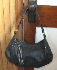 e0ee36cd1fde Brass Rivet   Tassel Large Black Purse Hobo Bag Handbag Shopping Tote by  Bueno