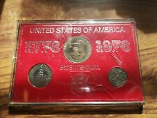 1976 USA US 3 coin bicentennial set