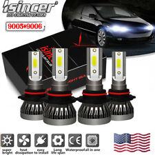 4 Bulbs 9005+9006 240W 52000LM Combo LED Headlight High Low Beam 6000K White Kit