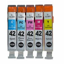 5-PACK CLI-42 C / M / Y /LM/LC Ink Cartridges for Canon PIXMA PRO-100 Printer