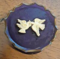 Vintage Avon Rapture White Doves Cream Sachet Pedestal Vanity Jar Empty