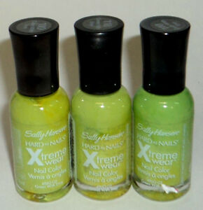 3 Sally Hansen Hard As nails Extreme Wear Polish GREEN WITH ENVY 110