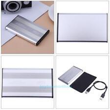Externe 2,5 Zoll SATA SSD Festplatte Gehäuse HDD Festplattengehäuse Alu USB 3.0