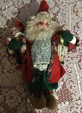 "Vintage House of Hatten Santa Elf Soft Scultpure Doll Rabbit Jester 20"""