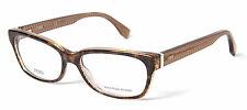 Fendi FF 0004 7PL Havana Brown Yellow Rectangular Women's Eyeglasses