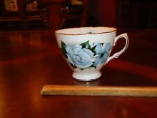 Vintage Queen Anne Blue Roses,Floral Tea, Coffee, cup, Mug, # 8282, Bone China