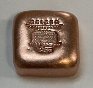 2 Oz. Geiger Edelmetalle. .999 COPPER Square Bar