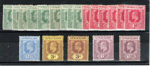 Cayman Islands 1907-09 values to 6d MLH/MH