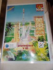 POSTER -  ARIANE  / ARIANESPACE V 86 - KOUROU 1996 - PALAPA C-2 - NUSANTARA