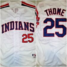 Throwback Jim Thome Cleveland Indians #25 REPLICA Size XL White Baseball Jersey