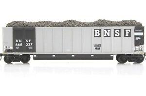 HO E&C Shops BNSF Johnstown Coal Porter Assembled +Kadee + Load No Steps #237