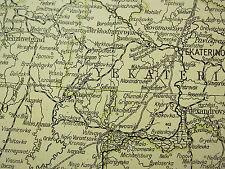 1919 Gran Mapa ~ Rusia South West ~ la Crimea en recuadro de minerales y población