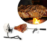 Electric BBQ Motor Chicken Barbecue Camping Grill Spit Rod Rotisserie Roaster US