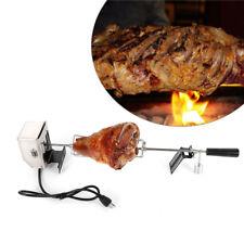 Us Bbq Rotisserie Spit Grill Roaster Rod Chicken Motor Stainless Steel Kit 15Kgf