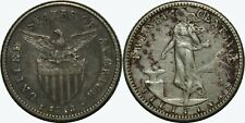 1913-S US/Philippines 20 Centavos ~ VF/XF Details ~ A#11.09 ~ 75% Silver ~ MX491