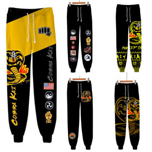Cobra Kai Cosplay pull-on pants 3D Sweatpant Joggers Sports Trousers streetwear