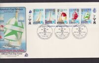 1987 SOLOMON ISLANDS AMERICA'S CUP DEFENCE FDC N-30