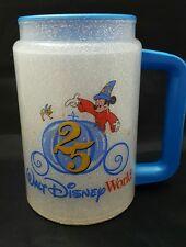 Walt Disney World 25th Anniversary Traveling Mug Whirley Coca Cola Sorecerer