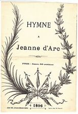 PARTITION ANCIENNE HYMNE A JEANNE D ARC 1896