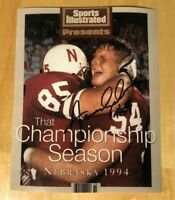NEBRASKA FOOTBALL AARON GRAHAM #54 SIGNED SPORTS ILLUSTRATED CLASSIC 1994 PHOTO