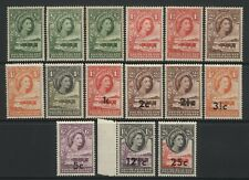 Bechuanaland Collection 15 QEII Values Mostly Mounted Mint