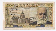 France 500 Francs N.2-9-1954 N Victor Hugo