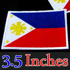 Large Flag Philippines Embroidered Iron On Patch Filipino National Emblem Manila