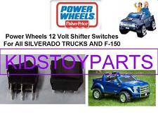 2 NEW! Power Wheels SILVERADO & F150 TRUCK Shifter Rocker Switch 00801-1775