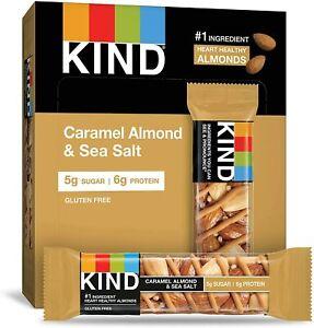 KIND Snack Bar Caramel Almond & Sea Salt Gluten Free 12x40g  Best Before 25.4.21