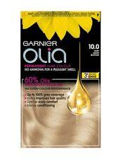 NEW Garnier Olia 10.0 VERY LIGHT BLONDE Hair Dye More Shine OIL GREY COVERAGE UK