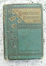 ANTIQUE 1882 SHAKESPEARE BIRTHDAY BOOK ILLUSTRATED LIKE A DIARY