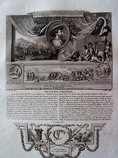 B3-23 Gravure illustres français par Ponce dessins de Marillier - François 1er