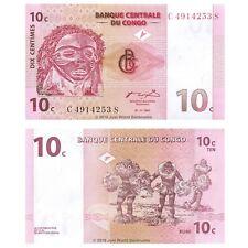 Congo 10 Centimes 1997 P-82 billets UNC