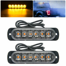 2X 6 LED Amber/Yellow Emergency Hazard Warning Strobe Beacon Caution Light Bar