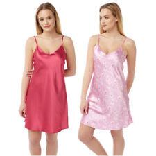 Biancheria canottiere, con spalline camicie da notte rosa per la notte da donna