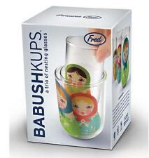 Babushkups - Russian Babushka Doll Nesting Glasses by FRED