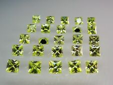 Lemon Peridot Square Princess Cut Stones SIZE CHOICE CZ Loose Gemstones