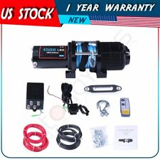 For 14-19 Polaris Rzr Utv Atv Winch 4500Lbs Electric Winch Synthetic Rope 12V