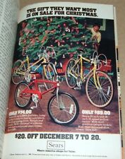 1980 SEARS BICYCLE AD~10 SPEED YELLOW RACERS~BMX DIRT BIKE~CHRISTMAS STORE PROMO