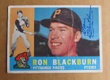 1960 TOPPS BASEBALL RON BLACKBURN #209 SIGNED AUTOGRAPHED CARD PIRATES (D.1998)