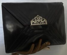 Leather Art Deco Clutch Vintage Bags & Cases