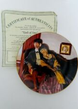 End of Day Collectible Plate by Norman Rockwell Third Plate in Golden Moments