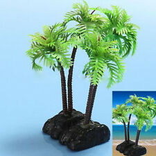 "1x Plastic Aquarium Coconut Tree Fish Tank Plants Ornament Decoration 5""  RT"