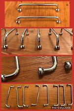 "8 Handles Pulls Bar Silver Chrome Ball 3.75"" Cabinet Drawer Mid Century Vintage"