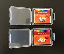 Set of 2 Transcend CompactFlash (CF) 133x 4gb Memory Cards (Used)