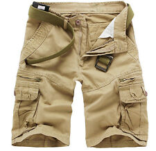 Mens Military Army Combat Trousers Tactical Pocket Camo Cargo Summer Pant Shorts