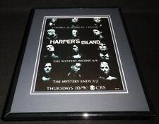Harper's Island 2009 CBS Framed 11x14 ORIGINAL Advertisement Elaine Cassidy