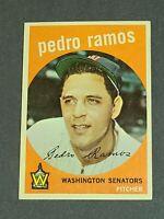 Pedro Ramos Washington Senators 1959 Topps #78 NM Centered Sharp
